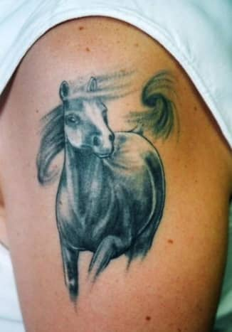 Tattoo of Horse Running Like the Wind