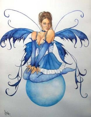 Blue Fairy Drawing