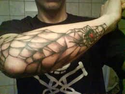Spider web on elbow