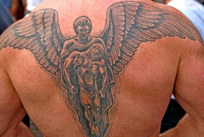 Rising angel, detail.