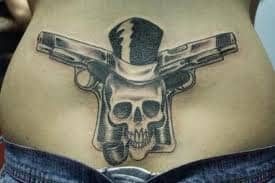 Gun Tattoo Design