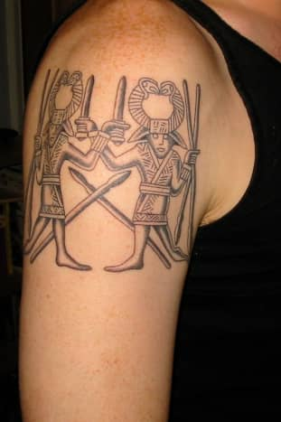 Anglo Saxon tattoo by Tatu Pier in Brighton, UK.