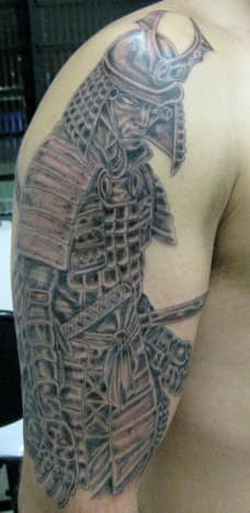 Samurai tattoo.