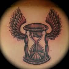 Hourglass with wings
