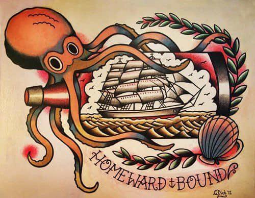 Sailor Jerry octopus tattoo