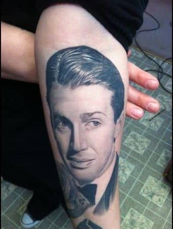 A tattooo portrait of Jimmy Start