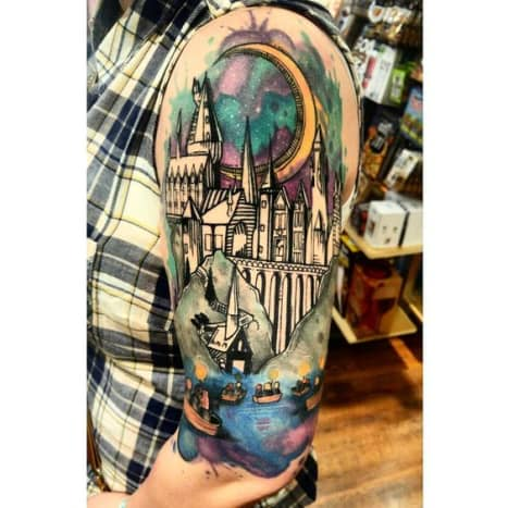 Hogwarts castle tattoo