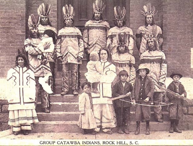 Catawba at the Corn Exposition of 1913 at Rock Hill. The Catawba Nation is now the only federally-recognized Indian tribe in the state.