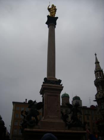 Mariensaeule ( Marys Column) in Munich, Germany