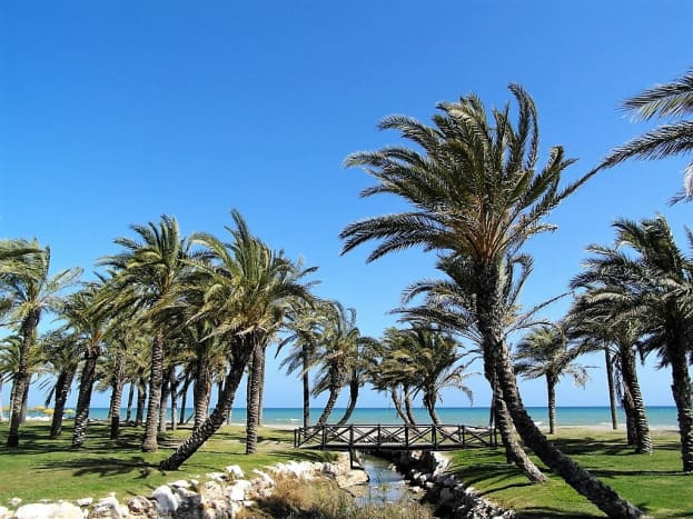 Beachside scenery near Torremolinos.
