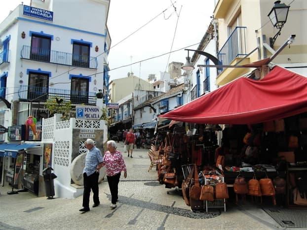 Pedestrianized area in Torremolinos old town.