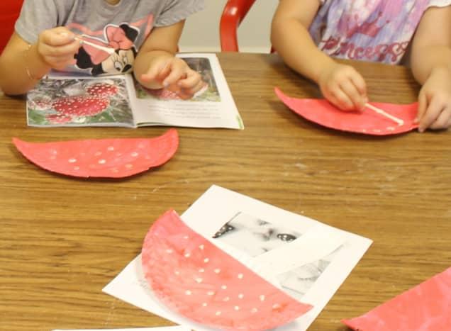 Fly Agaric Mushroom Craft for preschoolers