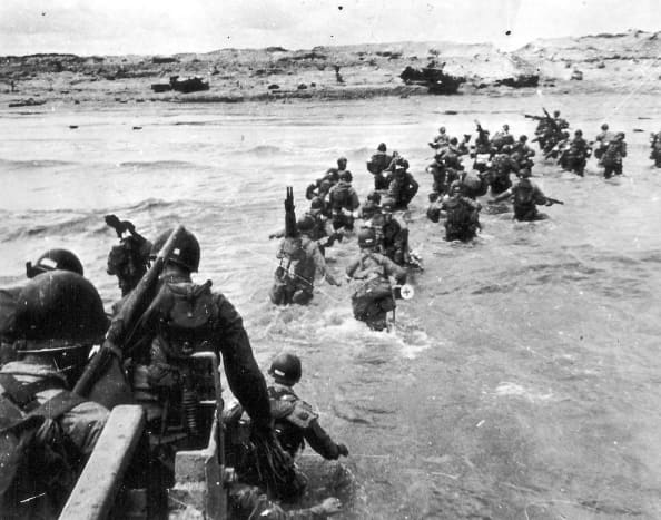 The 4 Infantry Division landed 21,000 troops on Utah Beach with only 197 casualties.