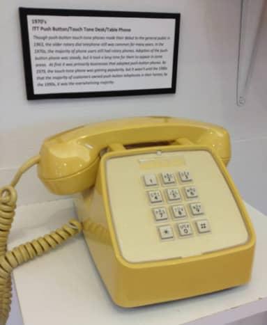 1970s push button technology.