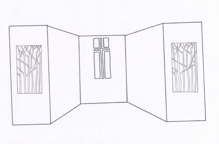 This was the original design for the Lenten panels.