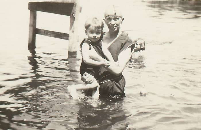 My great-grandmother in Okauchee Lake with some of her grandchildren