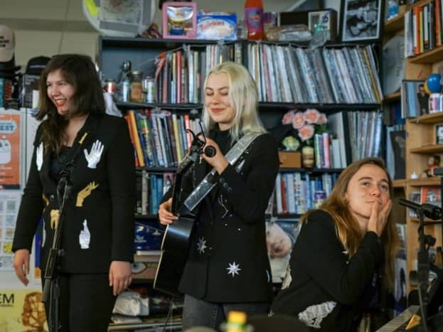 Lucy Dacus, Phoebe Bridgers and Julien Baker (from left)