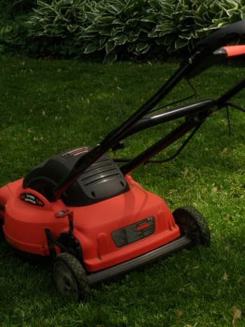 An electric lawnmower works just like a regular gas mower, except it has many more advantages.  It is easy to turn on, is quieter, and doesn't give off any fumes.