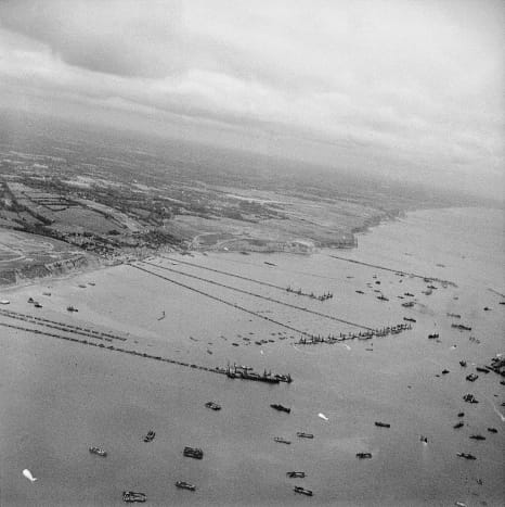 Put together like a vast jigsaw puzzle, an artificial harbor known as Mulberries, would provide the troops of Normandy with a means of re-supply just days after the invasion.