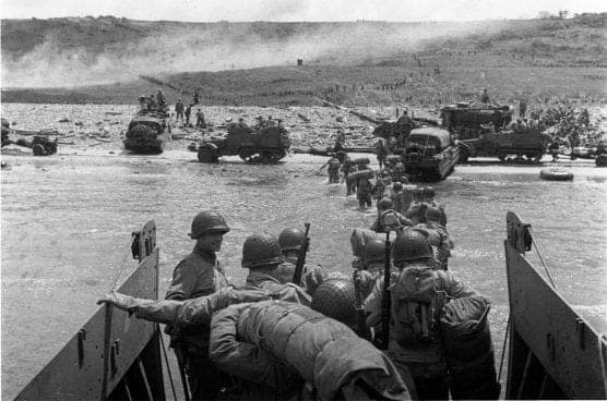 On the first day of the invasion the U.S 4th Infantry Division landed 21,000 troops on Utah Beach with only 197 casualties.