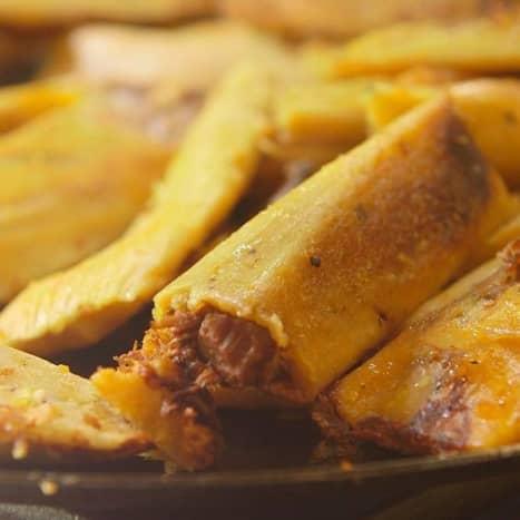 Authentic beef tamales