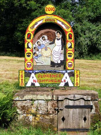 Ashborne, Derbyshire, well dressing