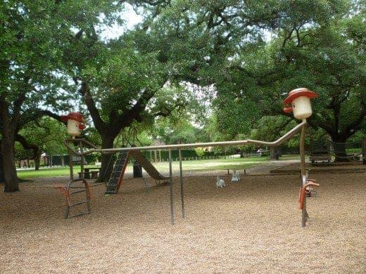 Cowboy monkey bars in Fleming Park