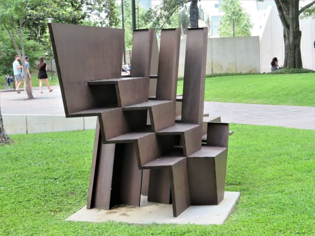 Abstract Piece at the Cullen Sculpture Garden