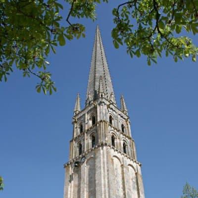 The spire of the Abbey Church of Saint-Savin