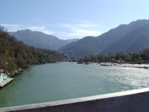 River Ganges flowing through Rishikesh