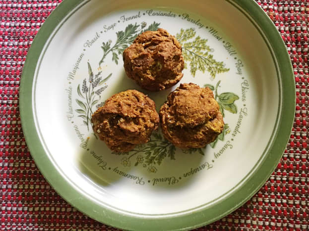 Muffins containing blackstrap molasses are often darker than ones containing another sweetener.