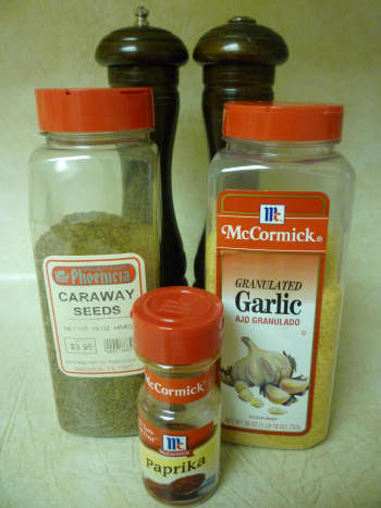 These were the seasonings used in this recipe.