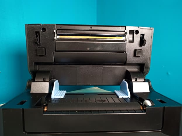 Printer can be opened for inspection and cleaning