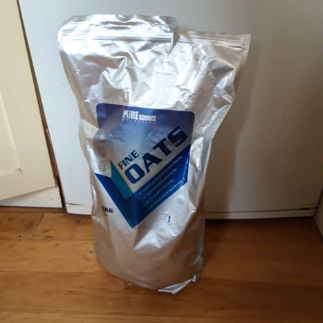 These are the ground oats I use, but there are numerous alternatives