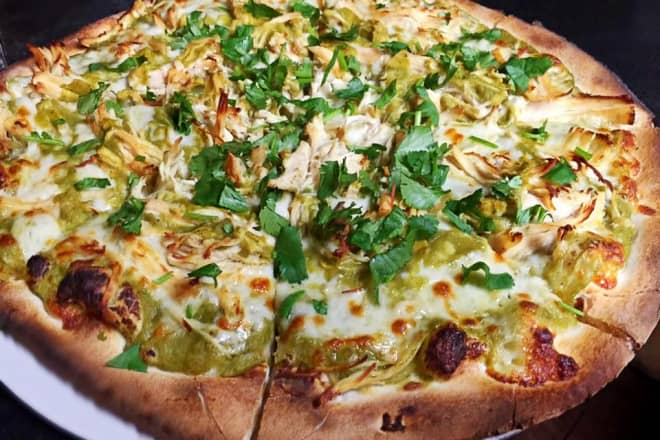 New Mexico: Green Chili Chicken Pizza