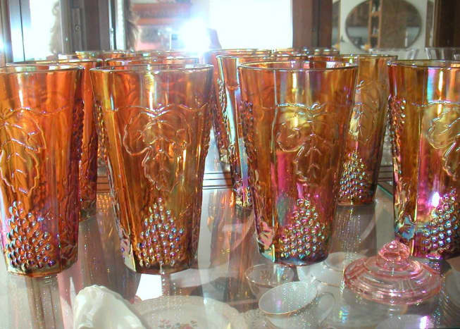 Carnival Glass Tumblers from the 50s