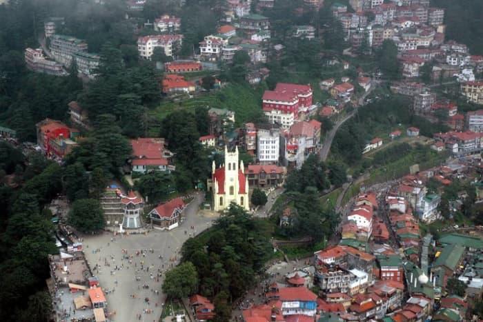 Aerial view of shimla