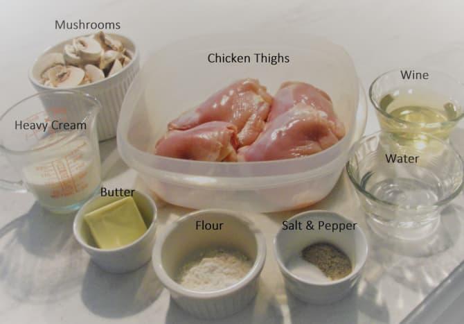 "All ingredients ""mise en place"""