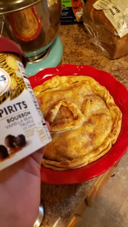 Remember how I said peach pie and vanilla ice cream were amazing together? Add some bourbon in there and you have a perfect summer dessert.