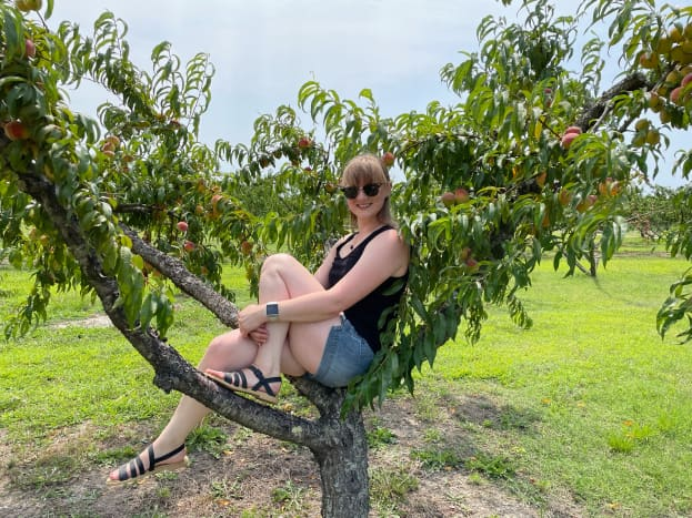 Peach picking is a great summer time activity. The smell of peaches is so strong and the trees themselves are just beautiful.  I loved that I was able to pick the exact fruits that I wanted and I was able to enjoy them at the peak of freshness.