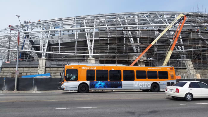Formerly known as The Bank Of California Stadium was constructed in the place of the Los Angeles Sports Arena..