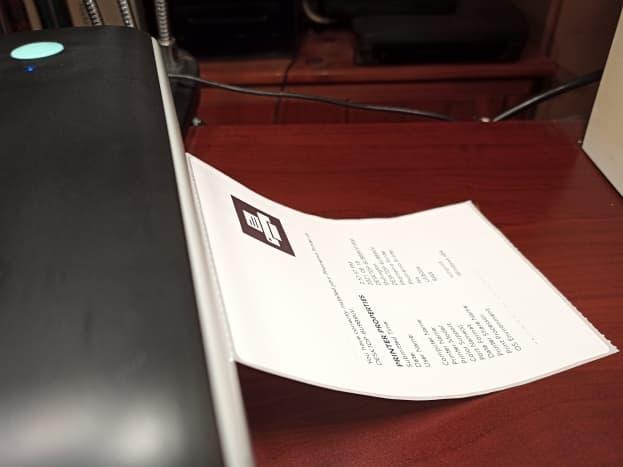 Printing a self-test