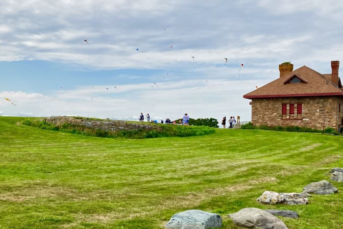Brenton Point State Park—Can you see the kites in the background?