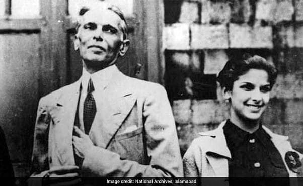 Jinnah and his daughter. She renounced Islam and married a Parsi