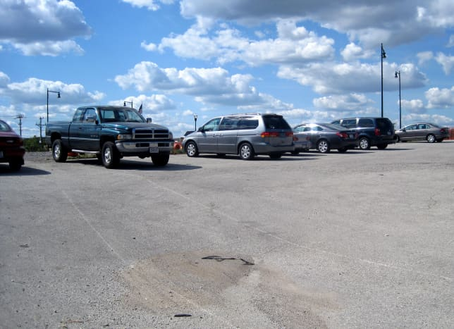 This is the parking lot on the west side of the farmers market.