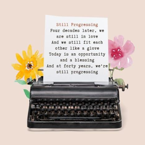 We will never stop progressing.
