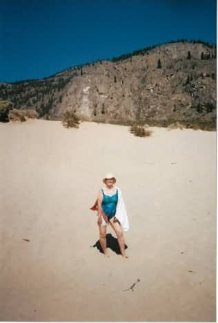 White Sands, on the eastern shore of Lake Osoyoos, is accessible only by boat