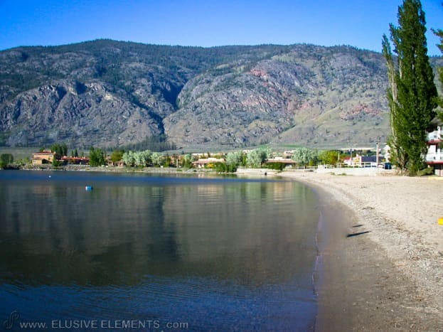 A beach on the east shore at Osoyoos