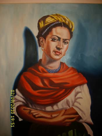 Frida Kahlo in Oil Painting by Lothar Alberts