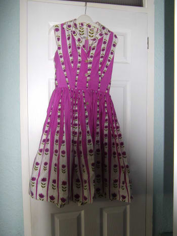 Vintage summer dress from the sixties.